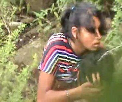 Indian Hot Chick Open Field Lovemaking With Boyfriend Dark-hued - Wowmoyback - 32 sec