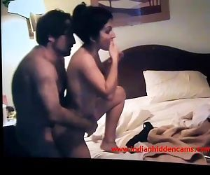 Indian Fledgling Wifey Sex In Bedroom With Her Spouse Leaked MMS Scandal