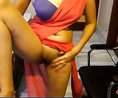 Indian Punjabi College Woman In Sari Revealing Tidy Pussy 2 min HD