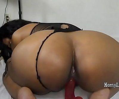 Indian girl Armpit Slurping and railing dildo - 10 min