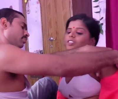 Scorching desi shortfilm 74 - Aunty thick hooters squeezed firm in white bra, smooch