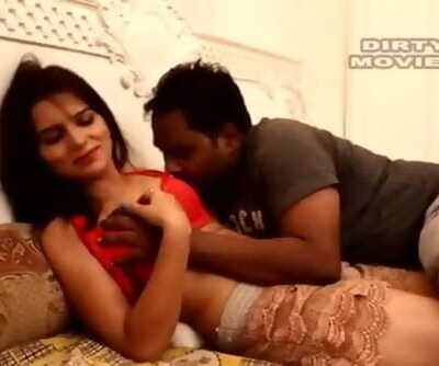 Hot desi shortfilm 40 - Manita Ranga tits pressed, smooched hard in red brassiere