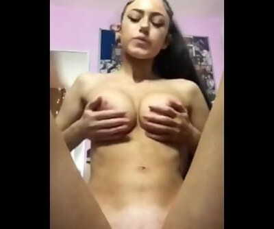 Magnificent EXGF Spitting on her tits