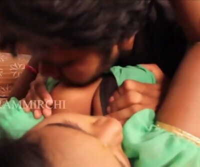 Scorching desi shortfilm 184 - Fat boobs squeezed hard many times, press & kissed
