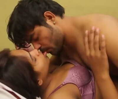 Scorching desi shortfilm 265 - Boobs squeezed & kissed in purple bra, kisses