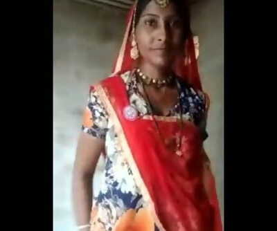 Desi lady with her small son