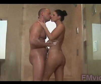 India Summer with naughty guy under shower 5 min
