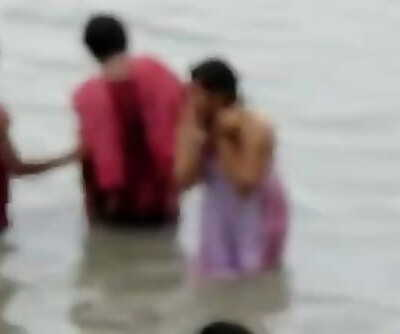 INDIAN - GANGA bathing caught