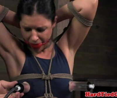 Box roped bondage skank 5 min