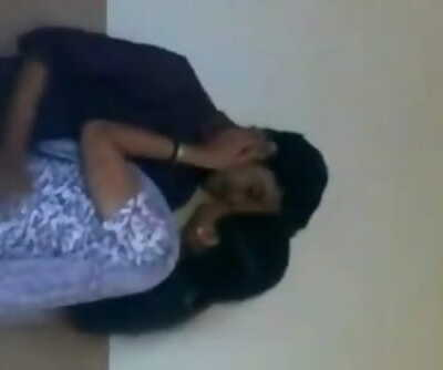 INDIAN - college lady romance at Bathroom