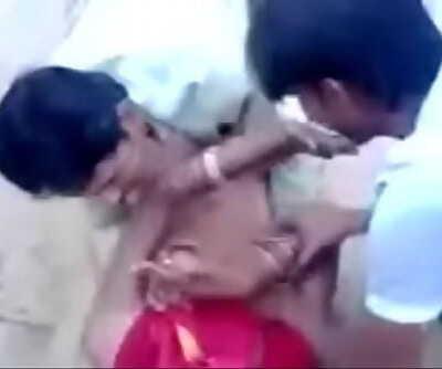 Indian Village Chicks Pounds 2 Dudes in Public 2 min
