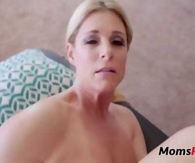 Son massages mom & she massages his testicles 8 min 720p