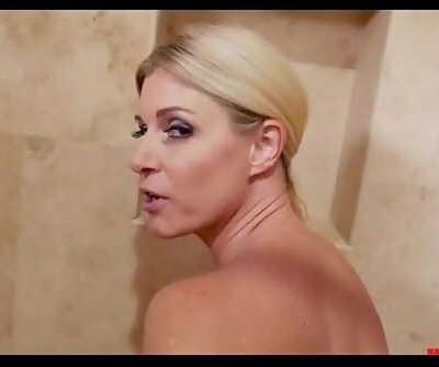 Mother takes sons hard-on in, in bathtub! 6 min 720p