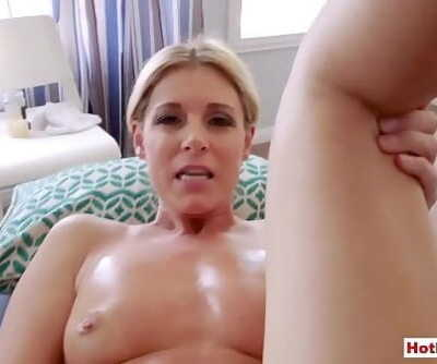 Fisting my molten blond MILF stepmom on a massage table 6 min 720p