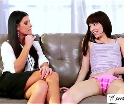 Whorish Hannah gets her beaver licked and fingered by her mom 6 min