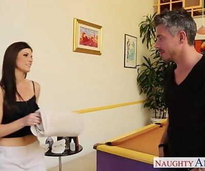 Slender hottie India Summer massaging a fat cock 8 min 720p