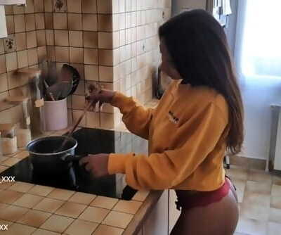 Latika Jha - Asian / Indian Teen with Huge Boobs Gettin Bitchy in her Kitchen / Amateur / LJ_015
