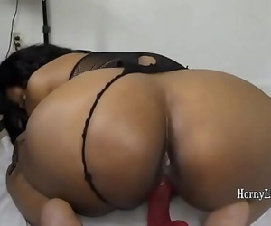 Indian girl Armpit Licking and riding faux-cock