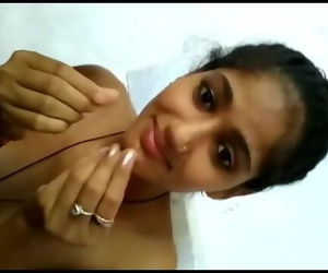 Youthful Freshly Married Indian Wife Filmed Naked with..