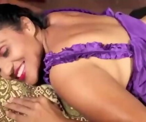 Indian Aunty Rubbing and Tit Press