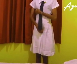 Sri Lankan School Chick Fucked by her Step Salami..