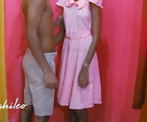 Sri Lankan Horny School Teen with her Step Brother..