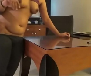 Horny Indian Reception Lady Superb Fucking In Table 9 min