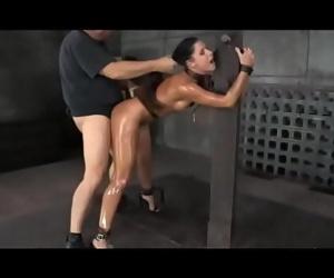 Creampie restrain bondage studio with mature milf 16 min