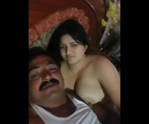 Desi uncle having hook-up after drunk with her gf in HD