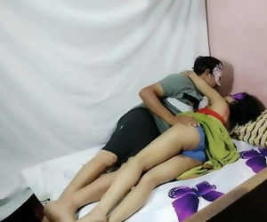 Indian Bhabhi Playing Youthful School Woman Role Play And..