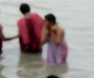 INDIAN - GANGA bathing caught