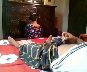 Flashing on my Maid Real indian maid 5 min 720p