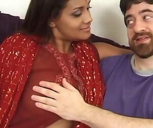 Inidan Hindi Wife Big Boobs Moist Beaver nails with..