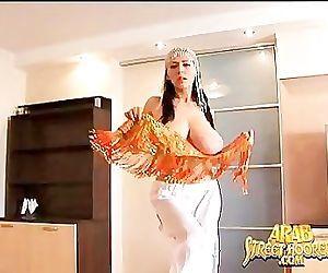 Big Boob Arabian Belly Dancer in..