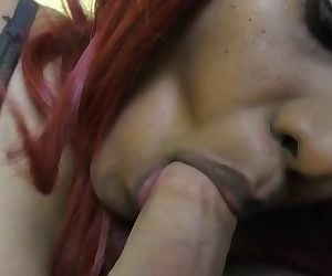 HornyLily giving sensual blowjob..