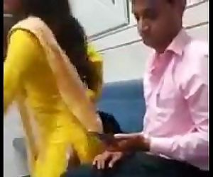 Indian couple having sex in train..