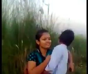 Desi Couple Romance And Kissing..