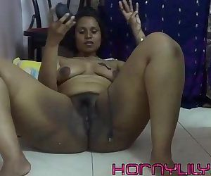 indian babe lily inserts computer..