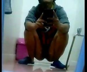 Desi toilet pissing self made -..