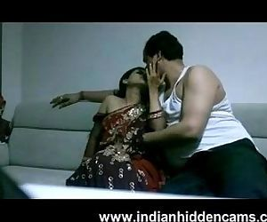 mature indian couple in lounge..
