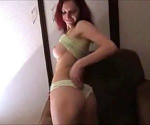 gorgeous redhead getting anal on..