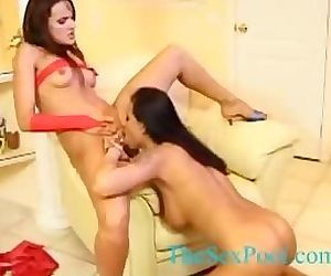 Lesbian pussy masturbation 4
