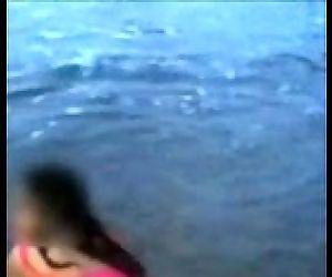 Indian Mom On Beach - 29 sec