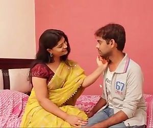 Indian sexy sashi aunty with huge cleavage gropped and enjoyed by young boy anil in bed room - Sex V - 6 min