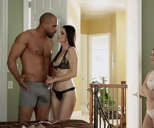 Teen share her foster Dads cock with her step momIndia Summer & Alice March 6 min 720p