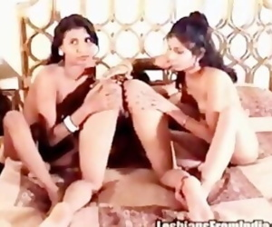 Two Fair North Indian Indoaryan Girls and one Black Dravidian Girl naked