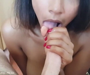 Latika Jha - Amateur Blowjob by an Indian Cutie on a Swiss Cock