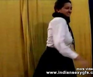 Horny Hot Indian PornStar Babe as School girl Squeezing Big Boobs and masturbating Part1 - indiansex - 14 min