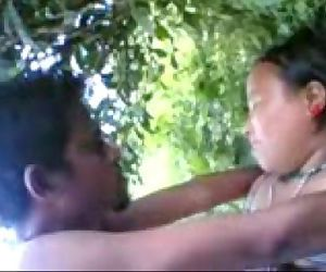 tanya fucks her lover hard in the jungle on camera - 10 min