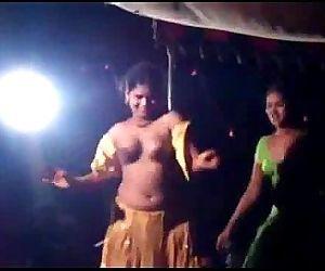 Stage dance in AP india నగà±Âà°¨ నాటà±Âà°¯à°¾& - 1 min 20 sec